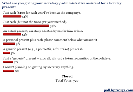 poll presents for administrative assistants and secretaries