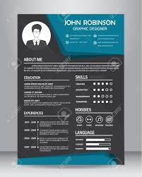 Job Resume Graphic Design by Job Resume Or Cv Design Template Layout Template In A4 Size