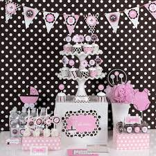 pink and brown baby shower and brown baby shower