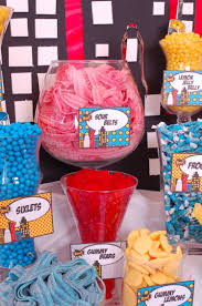 superhero candy buffet sour belts superhero candy buffet