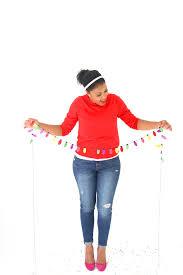 diy paper christmas light garland damask love