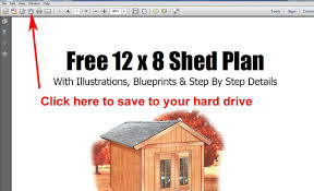 free 8x12 garden storage shed plans youtube