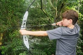 my kids test out the new easton beginner recurve bow realtree