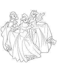 disney princess snow white cinderella aurora coloring