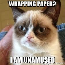 meme wrapping paper wrapping paper i am unamused grumpy cat meme generator