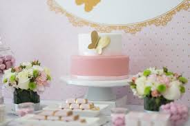 pink and gold butterfly baby shower cake baby shower ideas