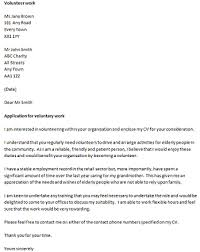 volunteer covering letter example icover org uk