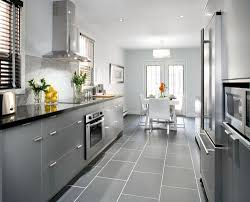 grey kitchen cabinets with black countertops kitchen decoration