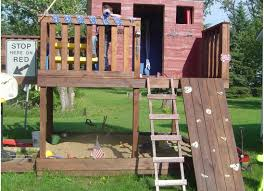 patio u0026 pergola outstanding kids fort swing set climbing rocks