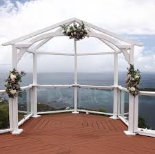Bamboo Wedding Arch Wedding Arches U0026 Aisles St Thomas Weddings Flawless Weddings