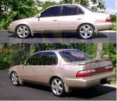 toyota corolla sedan 1993 toyota corolla 1993 1997 sedan splash guards mud flaps 4pcs