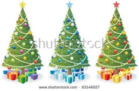 cartoon christmas tree vectors download free vector art stock