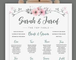 wedding table plan etsy