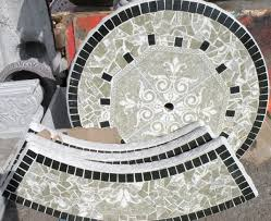 Concrete Patio Table Set Concrete Patio Garden Table Tile With 3 Benches And Pedestal