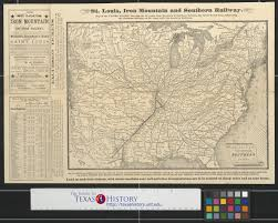 Map Of St Louis Map Of The St Louis Iron Mountain And Southern Railway And