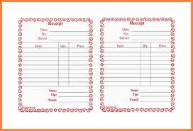 printable bill receipt 5 food bill receipt formats letter bills