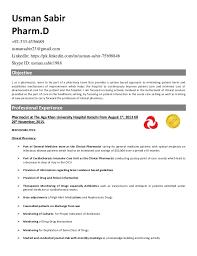 Example Pharmacist Resume by Hospital Pharmacist Resume Contegri Com