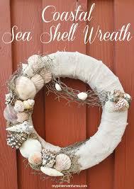 seashell wreath coastal sea shell wreath my pinterventures