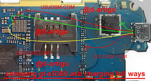 galaxy y s5360 usb charging problem solution jumper ways