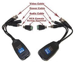 cctv camera passive power video audio balun or ptz data via utp