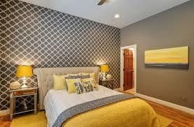 chambre gris decoration chambre gris et jaune