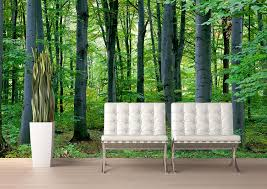 forest wallpaper mural home design ideas woodland forest peel stick canvas wall mural 10 1 2 feet wide x