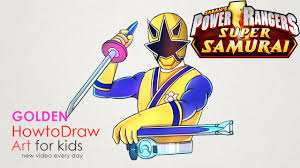 power rangers drawing step by step how to draw golden ranger from