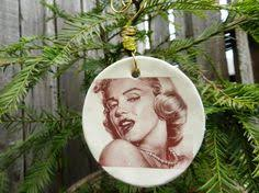 Marilyn Monroe Christmas Ornaments - a marilyn monroe ornament featuring the beautiful late actress in
