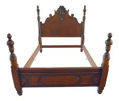 Ralph Lauren Furniture Beds by Ralph Lauren Four Poster Carved Wood Queen Size Bed Frame Chairish