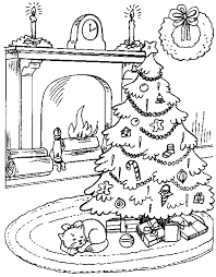 coloring page of christmas tree with presents christmas tree presents 2 familycorner com