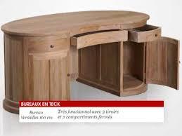 fabrication d un bureau en bois bureau en bois teck massif 160x70x75cm versailles tek import