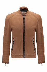 padded motorcycle jacket men u0027s premium leather jackets hugo boss