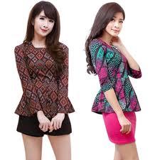 model baju batik terusan jual blouse batik modern online elevenia