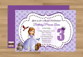 how to create sofia the first birthday invitations designs