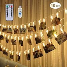 string lights with clips remote timer 40 led photo clip string lights adecorty usb