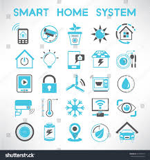 smart home icons set home automation stock vector 214556719