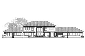 View Lot House Plans Southwest House Plans Estefan 30 125 Associated Designs