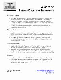 general resume objective resume format in accounts lovely resume objective exles