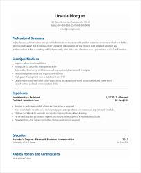 Free Administrative Assistant Resume Templates Https Images Template Net Wp Content Uploads 201