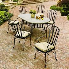 wonderful outdoor wrought iron patio furniture set storage on