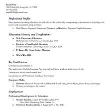 substitute resume exle cover letter elementary school resume exles how to