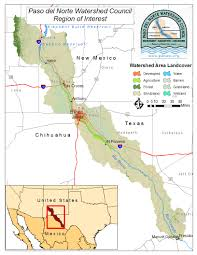Texas Mexico Border Map by Paso Del Norte Watershed Council Coordinated Database And Gis