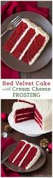 red velvet cake with cream cheese frosting add blueberries and