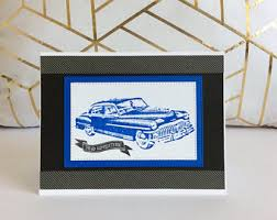 classic car cards etsy