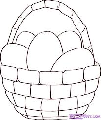 how to draw an easter basket step by step easter seasonal free