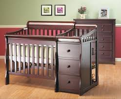 Cribs With Changing Tables Attached Crib With Drawers And Changing Table Dresser Baby Set