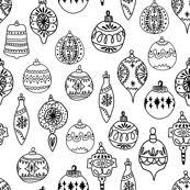 ornaments black and white ornaments tree