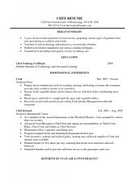 Resume Sample Kitchen Hand by Chef Resume Templates For Microsoft Word Basic Cover Letter Chef