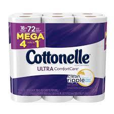 cottonelle toilet paper ultra comfort care 18 mega rolls