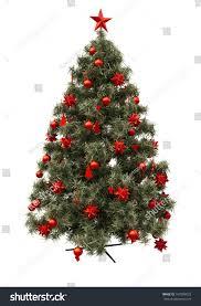 tree decorations isolation on white stock illustration